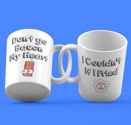 Don't go Bacon my Heart Couple Mugs
