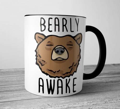 Bearly Awake Colored Mugs