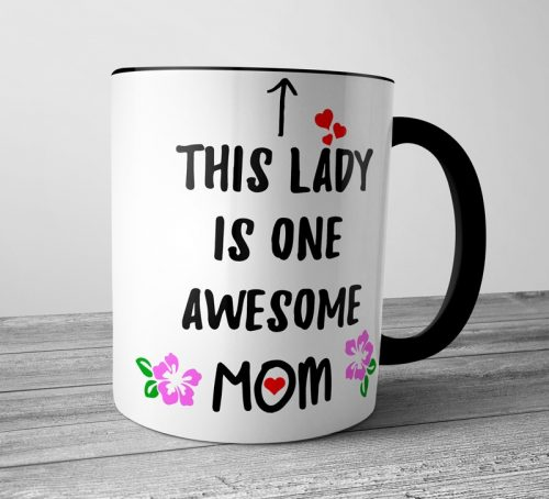 Awesome Mom Colored Mugs