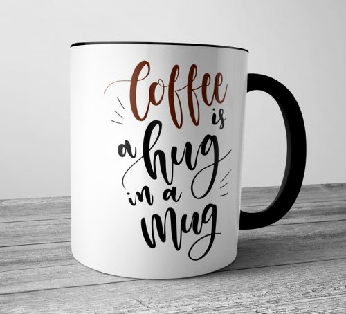 Coffee is a Hug Colored Mugs