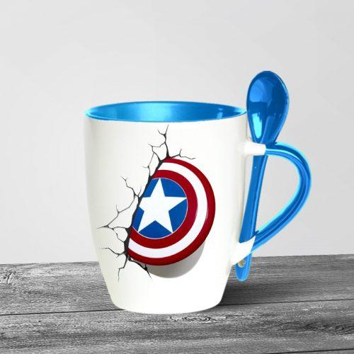 Captain America Spoon Mugs